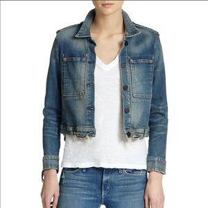 mcguire distressed denim jacket